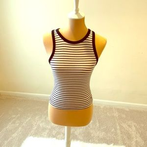 American Eagle striped racer back tank top
